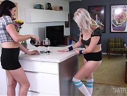 Roommates Get Undressed, Show Bush and Piss on the Floor