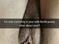 Her lover cum inside my wife fertile pussy and mocking me