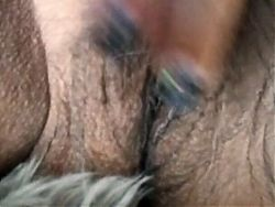 Mature Latina woman playing with my hairy pussy