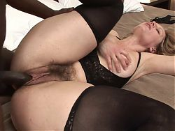 Horny MILF gets butt fucked while her husband is at work